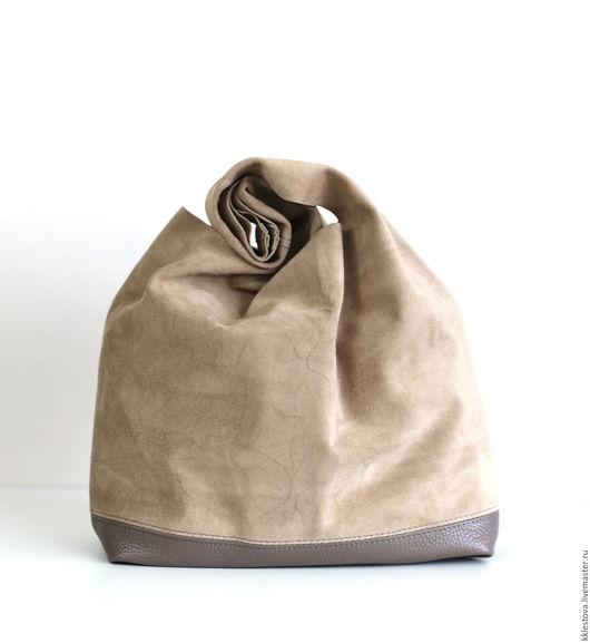 Женские сумки ручной работы. Ярмарка Мастеров - ручная работа. Купить Сумка - Мешок - Пакет - среднего размера с внутренним карманом. Handmade.