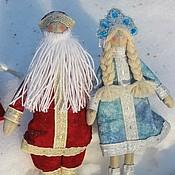 Куклы и игрушки ручной работы. Ярмарка Мастеров - ручная работа Дед Мороз и Снегурочка в стиле тильда. Handmade.