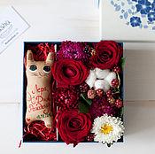 """Цветы и флористика ручной работы. Ярмарка Мастеров - ручная работа Цветочная коробочка """"Обольщение"""". Handmade."""