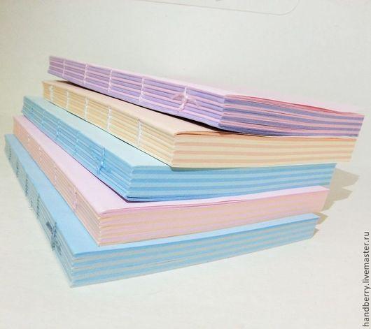Открытки и скрапбукинг ручной работы. Ярмарка Мастеров - ручная работа. Купить Блоки для блокнотов А6 двухцветные. Handmade. Внутренний блок