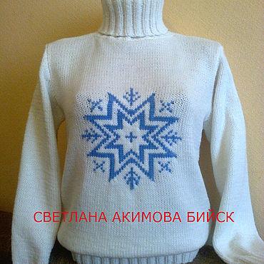 Одежда ручной работы. Ярмарка Мастеров - ручная работа Свитеры: свитер. свитер вязаный. пуловер.пуловер вязаный. свитер теплы. Handmade.