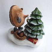 Подарки к праздникам handmade. Livemaster - original item And you already put up a Christmas tree? Ceramics. Animal figurines.. Handmade.