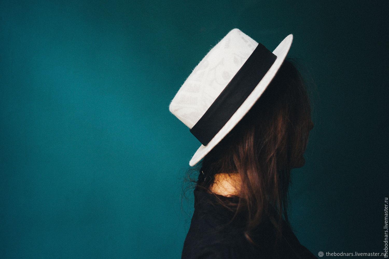 Велюровая шляпа канотье, Шляпы, Санкт-Петербург, Фото №1