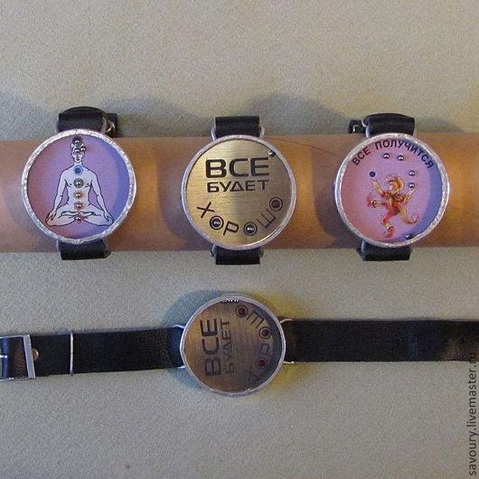 Браслеты ручной работы. Ярмарка Мастеров - ручная работа. Купить браслет игра-часы,. Handmade. Браслет, стекло, пряжка для ремня
