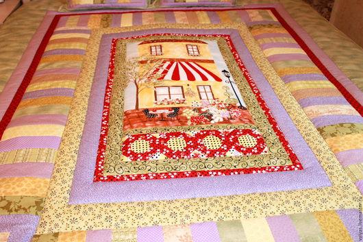 """Текстиль, ковры ручной работы. Ярмарка Мастеров - ручная работа. Купить Лоскутный комплект """"Милый дом"""". Handmade. Комбинированный"""