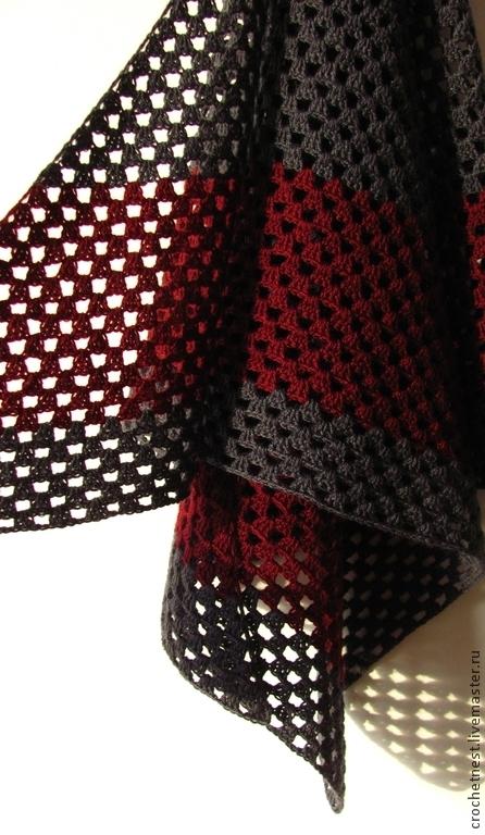 """Шали, палантины ручной работы. Ярмарка Мастеров - ручная работа. Купить Шаль """"Маренго"""". Handmade. Темно-серый, большая шаль"""