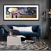 Картины и панно handmade. Livemaster - original item The big picture, watercolor, painting, contemporary painting. Handmade.