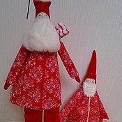 Дед Мороз и Снегурочка ручной работы. Ярмарка Мастеров - ручная работа Новогодние Деды Морозы и Санта. Handmade.