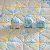 Для дома и интерьера ручной работы. Ярмарка Мастеров - ручная работа Плед для малыша с кубиками. Handmade.