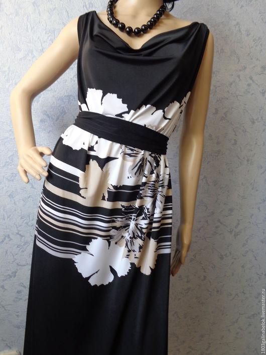 Платья ручной работы. Ярмарка Мастеров - ручная работа. Купить Платье-сарафан Греческий хитон. Handmade. Черный, платье летнее