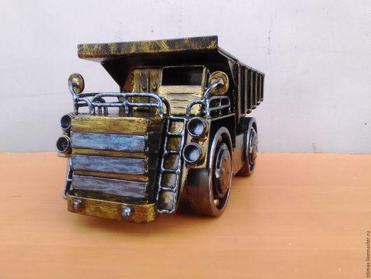 Автомобильные ручной работы. Ярмарка Мастеров - ручная работа. Купить Машина из металла Белаз. Handmade. Машины из металла, прикольный подарок