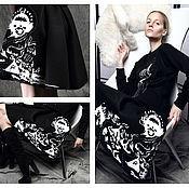 Одежда handmade. Livemaster - original item Skirt neoprene Storm. Handmade.