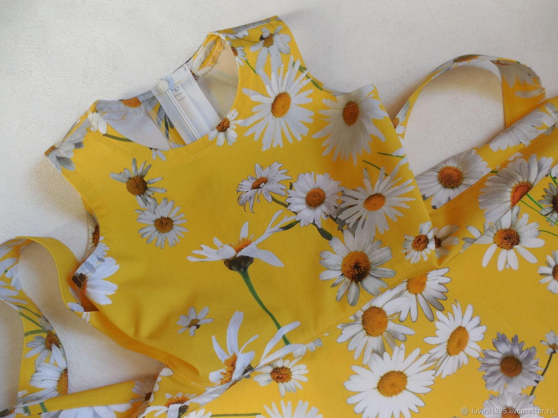 Рост 116. Платье желтое с ромашками. Стиляги