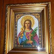 Картины и панно handmade. Livemaster - original item The icon of St. Barbara the great Martyr. Handmade.