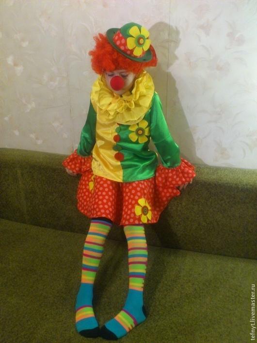 Детские карнавальные костюмы ручной работы. Ярмарка Мастеров - ручная работа. Купить Клоунесса. Handmade. Желтый, клоуны