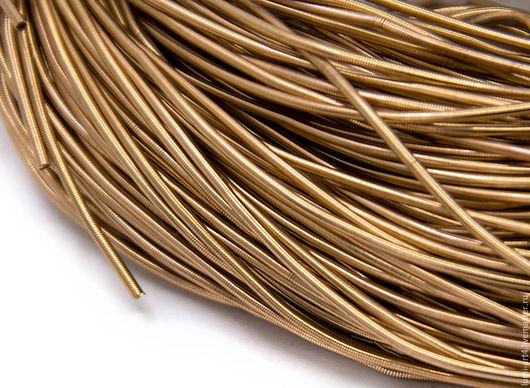 Для украшений ручной работы. Ярмарка Мастеров - ручная работа. Купить Канитель 1мм мягкая гладкая Светлая бронза (KAN-11) Индия. Handmade.