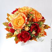 Цветы и флористика ручной работы. Ярмарка Мастеров - ручная работа Букет из конфет Осенний. Handmade.