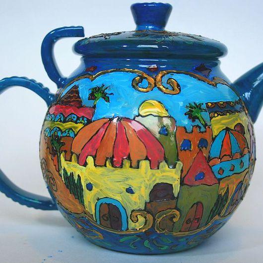 """Чайники, кофейники ручной работы. Ярмарка Мастеров - ручная работа. Купить Заварочный чайник """"Волшебная лампа Алладина"""". Handmade. Чайник"""