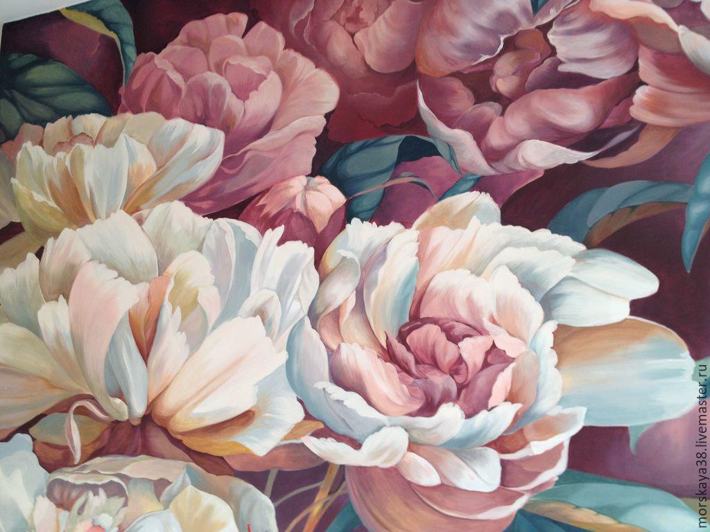 Marvelous Surface Decor Handmade. Livemaster   Handmade. Buy Wall Painting U0027peonies U0027.Interior