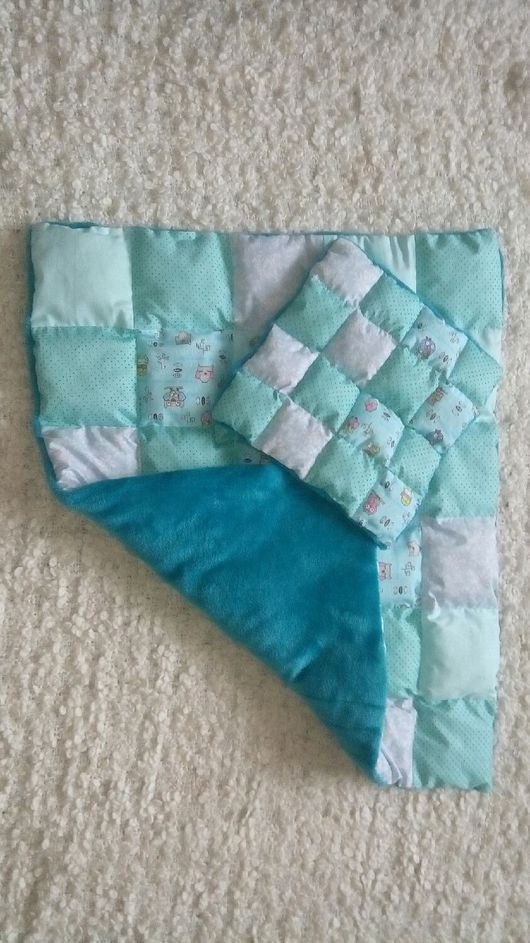 Пледы и одеяла ручной работы. Ярмарка Мастеров - ручная работа. Купить Лоскутное одеяло с подушкой. Handmade. Одеяло лоскутное детское