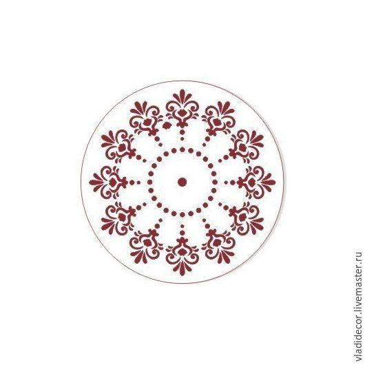 Трафарет циферблат круглый d-15 см. ЭЛГ-15-07