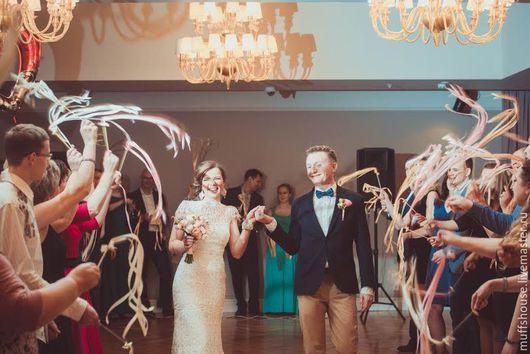 Свадебные аксессуары ручной работы. Ярмарка Мастеров - ручная работа. Купить Палочки с лентами и колокольчиками. Handmade. Свадьба, палочки для свадьбы
