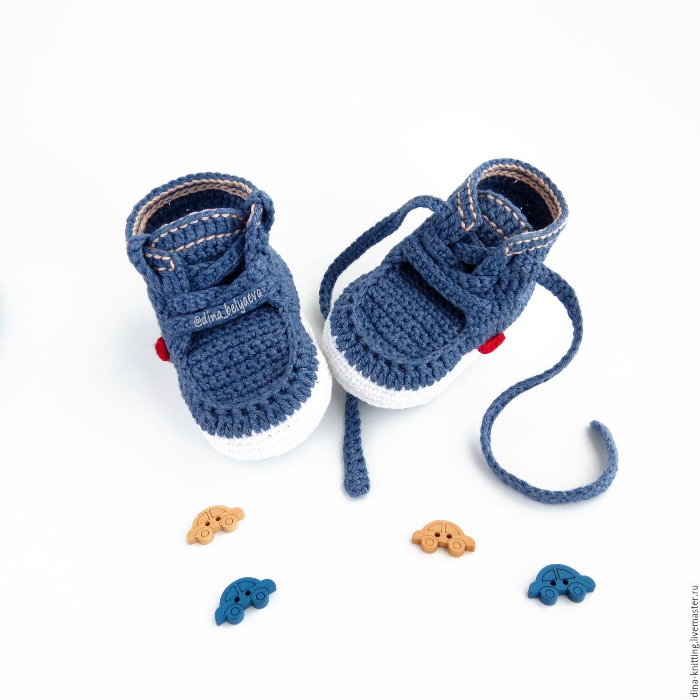 botines para niño de ganchillo botines de garantía dril de algodón ...