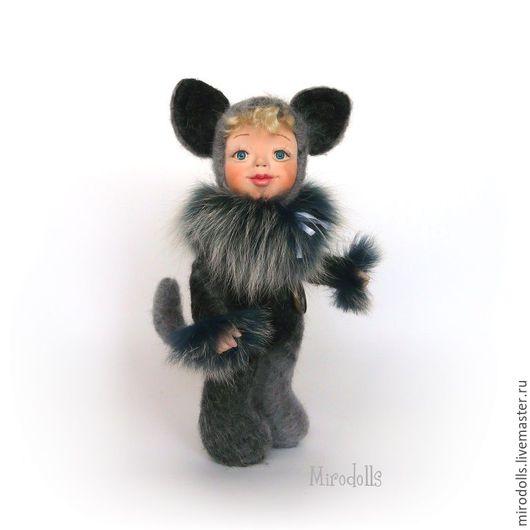 Коллекционные куклы ручной работы. Ярмарка Мастеров - ручная работа. Купить Котёнок тедди-долл. Интерьерная коллекционная кукла игрушка.. Handmade.
