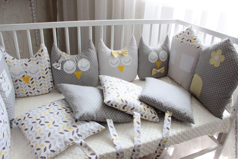 Бортики подушечки в кроватку для новорожденных своими руками фото 523
