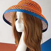 """Шляпы ручной работы. Ярмарка Мастеров - ручная работа """"Оранжевое небо"""". Handmade."""