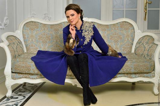 """Верхняя одежда ручной работы. Ярмарка Мастеров - ручная работа. Купить Пальто""""Sapphire Queen"""". Handmade. Красивое пальто, тренд 2015"""