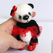 Куклы и игрушки ручной работы. Ярмарка Мастеров - ручная работа Пандочка (10 см). Handmade.