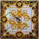 Часы для дома ручной работы. Ярмарка Мастеров - ручная работа. Купить Часы настенные стеклянные Версаче Королевские. Handmade. Золотой
