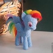 Куклы и игрушки ручной работы. Ярмарка Мастеров - ручная работа Валяная пони Rainbow Dash. Handmade.