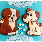 Сувениры и подарки handmade. Livemaster - original item Gingerbread Merry puppy . The carrot Symbol 2018 ( two types). Handmade.