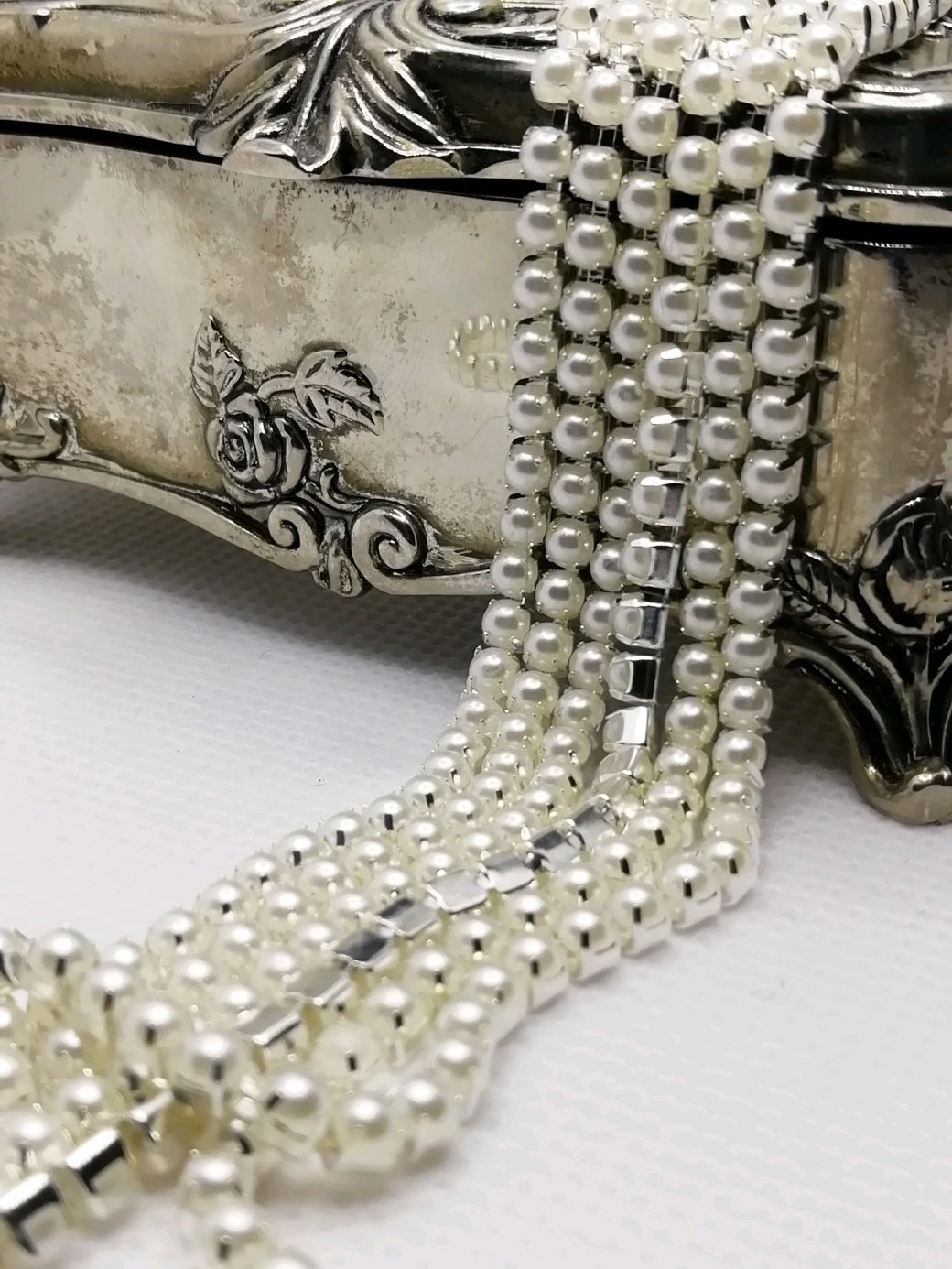 Cinta de perlas en plata 3mm, Chains, St. Petersburg,  Фото №1