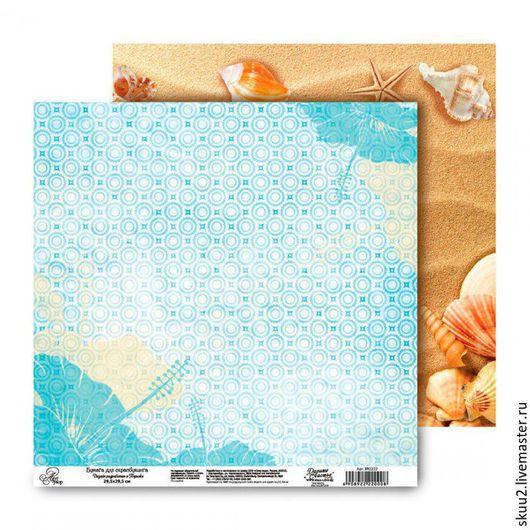 """Открытки и скрапбукинг ручной работы. Ярмарка Мастеров - ручная работа. Купить Бумага для скрапбукинга из коллекции """"Ура! На море"""" песок. Handmade."""