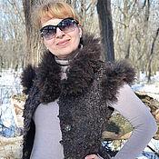 Одежда ручной работы. Ярмарка Мастеров - ручная работа Жилет валяный женский Мой ласковый и нежный зверь авторский войлок. Handmade.