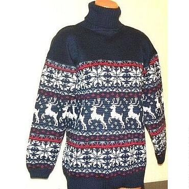 Одежда ручной работы. Ярмарка Мастеров - ручная работа Вязаный свитер с норвежским орнаментом. Handmade.