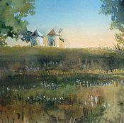 """Картины и панно ручной работы. Ярмарка Мастеров - ручная работа """"старые мельницы""""акварель. Handmade."""