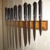 Для дома и интерьера ручной работы. Ярмарка Мастеров - ручная работа Магнитный держатель для ножей. Ясень-орех. 450 мм.. Handmade.