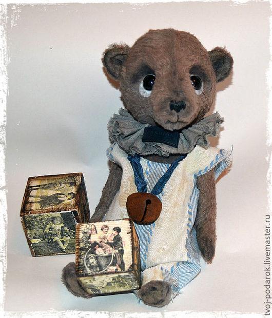 Мишки Тедди ручной работы. Ярмарка Мастеров - ручная работа. Купить Найденыш. Handmade. Коричневый, мишка ручной работы, колокольчик