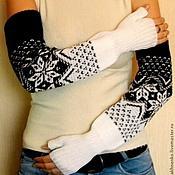 Аксессуары handmade. Livemaster - original item Mitts, knitted Dolcini. Handmade.