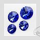 Для украшений ручной работы. Ярмарка Мастеров - ручная работа. Купить Риволи SWAROVSKI  код 1122  (12,14,16,18 мм) Sapphire. Handmade.