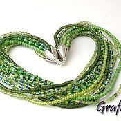 Украшения handmade. Livemaster - original item Necklace green harness. Handmade.