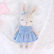 Stuffed Toys handmade. Livemaster - original item Beige fluffy sleeping Bunny, amigurumi toy. Handmade.