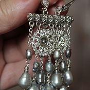 Украшения handmade. Livemaster - original item Baroque pearl earrings Pearl cascade. Handmade.