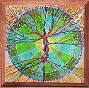 """Картины и панно ручной работы. Ярмарка Мастеров - ручная работа Картина Мандала """"Древо Жизни"""". Handmade."""