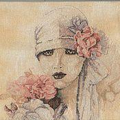 """Картины и панно ручной работы. Ярмарка Мастеров - ручная работа Вышитая картина """"Сара Мун"""". Handmade."""