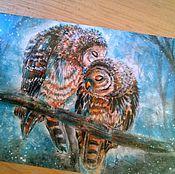 """Открытки ручной работы. Ярмарка Мастеров - ручная работа Почтовая открытка """" Нежность """" """". Handmade."""